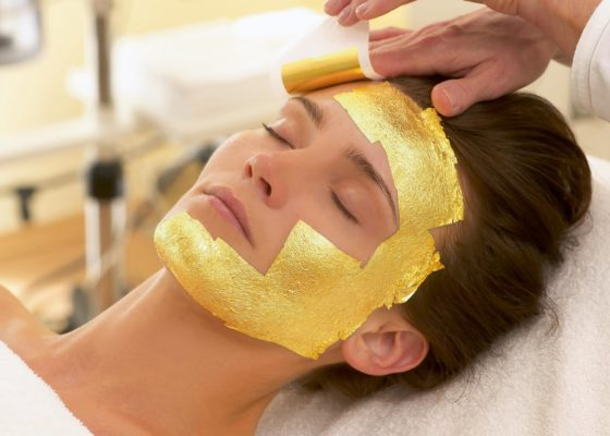 A 24 Karat Gold Facial Demo